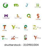set of colorful abstract letter ... | Shutterstock .eps vector #310981004