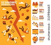 economic downturn infographics | Shutterstock .eps vector #310986665