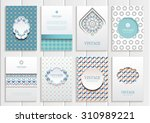 stock vector set of brochures... | Shutterstock .eps vector #310989221