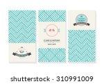 vector set of cards  wedding... | Shutterstock .eps vector #310991009