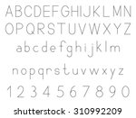 latin alphabet letters with set ... | Shutterstock .eps vector #310992209