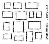 grunge empty blank postage... | Shutterstock .eps vector #310992215