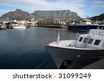 Cape Town Harbour With Small...