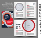 a4 booklet layout design... | Shutterstock .eps vector #310993184