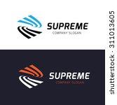 s letter logo supreme vector... | Shutterstock .eps vector #311013605