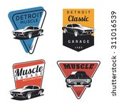 set of classic muscle car... | Shutterstock .eps vector #311016539