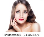 beautiful woman young model... | Shutterstock . vector #311026271
