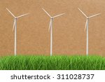 3d Rendered Wind Turbines In...