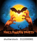 halloween party vector concept... | Shutterstock .eps vector #311030081