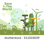 eco friendly  green energy... | Shutterstock .eps vector #311033039