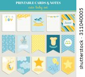 cute boy card set. birthday ... | Shutterstock .eps vector #311040005