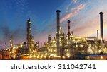 oil industry   refinery factory | Shutterstock . vector #311042741