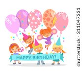 cute happy birthday design... | Shutterstock .eps vector #311047331