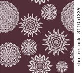 floral pattern with flowers.... | Shutterstock .eps vector #311051339
