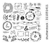 vintage hipster design elements ... | Shutterstock .eps vector #311051411