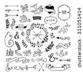 vintage hipster design elements ... | Shutterstock .eps vector #311051414