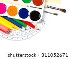 school supplies on white... | Shutterstock . vector #311052671