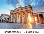 Stock photo berlin brandenburg gate germany 311061461