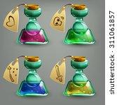 bottles of potion. vector...