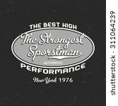 the strongest sportsman label