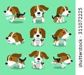 Cartoon Character Beagle Dog...