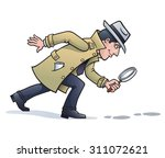 sleuth looking for clues | Shutterstock .eps vector #311072621