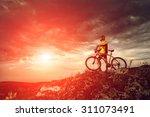 Mountain Bike Cyclist Riding...