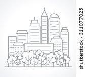 Ity Landscape Line Vector...