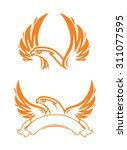 phoenix with ribbon  | Shutterstock .eps vector #311077595