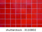 bright red tile background | Shutterstock . vector #3110802
