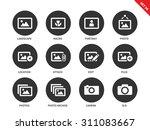 picture vector icons set. art... | Shutterstock .eps vector #311083667