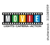 movie film strip logo | Shutterstock .eps vector #311085959