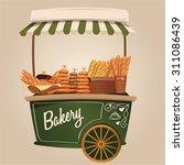 bakery  pastry  cart. vector... | Shutterstock .eps vector #311086439