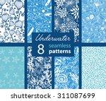 vector underwater life eight... | Shutterstock .eps vector #311087699