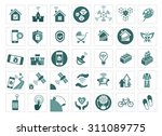 smart house icon set | Shutterstock .eps vector #311089775