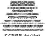 tribal borders  dingbats ...   Shutterstock .eps vector #311095121
