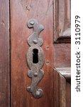 ancient wood door in saluzzo  a ... | Shutterstock . vector #3110979