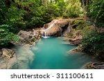 erawan waterfalls located in... | Shutterstock . vector #311100611