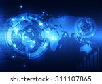 vector digital global... | Shutterstock .eps vector #311107865