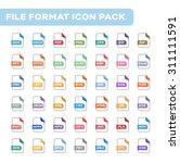 file format icon set   flat...