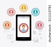 social media design  vector... | Shutterstock .eps vector #311113781