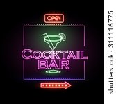 neon sign cocktail bar | Shutterstock .eps vector #311116775