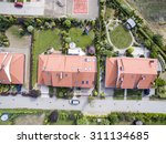 aerial view of suburban houses | Shutterstock . vector #311134685
