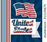 united states design  vector... | Shutterstock .eps vector #311135675