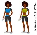 young african american girl in...   Shutterstock .eps vector #311138774