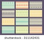 business card. vintage... | Shutterstock .eps vector #311142431