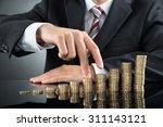 close up of businessman's...   Shutterstock . vector #311143121