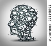 tortured thinking and... | Shutterstock . vector #311148911