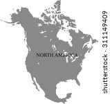 map of north america | Shutterstock .eps vector #311149409