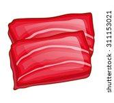 fish steak isolated... | Shutterstock .eps vector #311153021